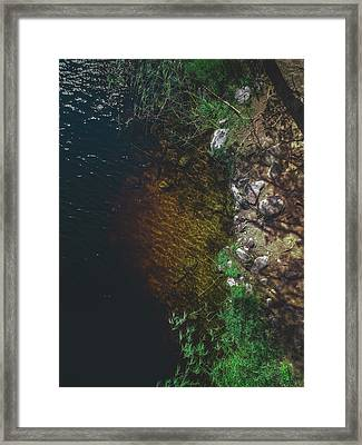 Summer Lake - Aerial Photography Framed Print