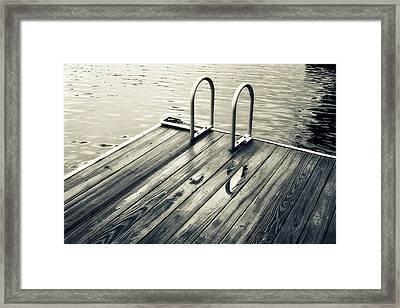 Summer Lake Swim Framed Print by Tony Grider