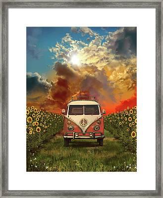 Summer Landscape 3 Framed Print