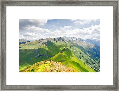 Summer Landscape In Mountains  Framed Print by Lanjee Chee