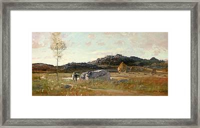Summer Landscape Framed Print by Luigi Loir