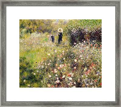 Summer Landscape Framed Print by Pierre Auguste Renoir