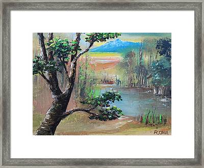 Summer Leaves Framed Print by Remegio Onia
