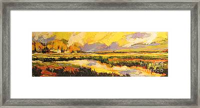 Framed Print featuring the painting Summer Light by Debora Cardaci