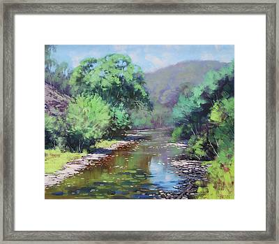 Summer Light Williwa Ck Framed Print by Graham Gercken