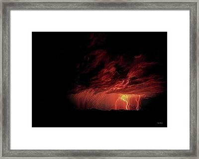 Summer Lightning Framed Print