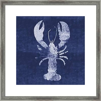 Summer Lobster- Art By Linda Woods Framed Print