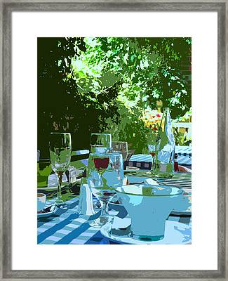 Summer Lunch Remembered Framed Print by Ian  MacDonald