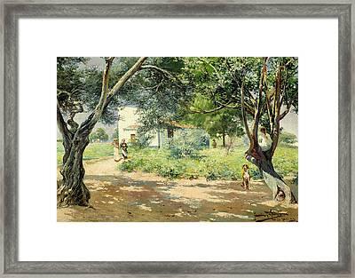 Summer  Framed Print by Manuel Garcia y Rodriguez