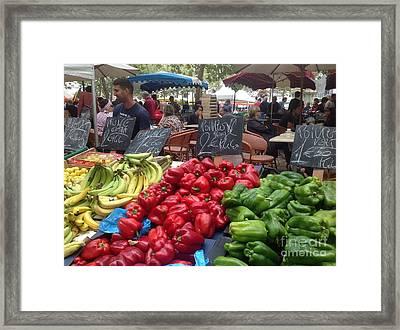 Summer Market Framed Print by France Art