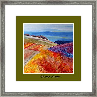 Summer Meadow Framed Print by Carola Ann-Margret Forsberg