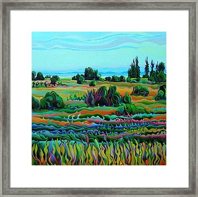 Summer Meadow Dance Framed Print