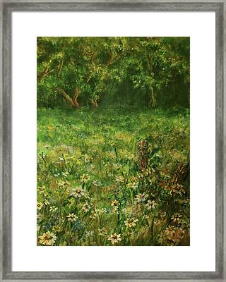 Summer Meadow Framed Print by Mary Wolf