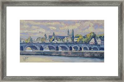 Summer Meuse Bridge, Maastricht Framed Print