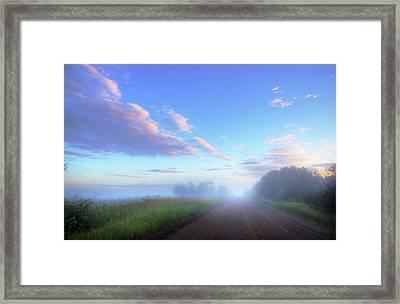 Framed Print featuring the photograph Summer Morning In Alberta by Dan Jurak