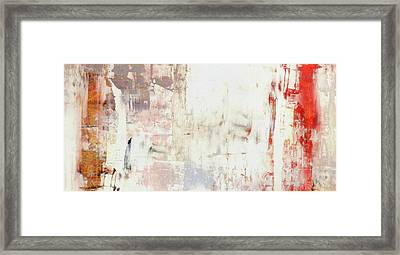 Summer Morning Mist - White Warm Abstract Painting Framed Print by Modern Art Prints