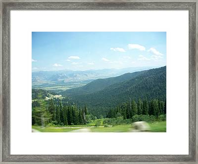 Summer Mountain Framed Print