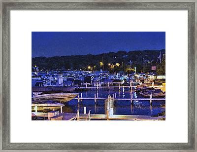 Summer Night - Lake Geneva Wisconsin Framed Print by Ben Thompson