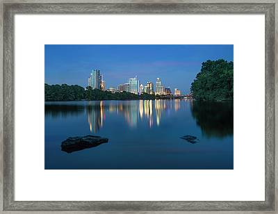 Summer Night In Austin, Texas 2 Framed Print