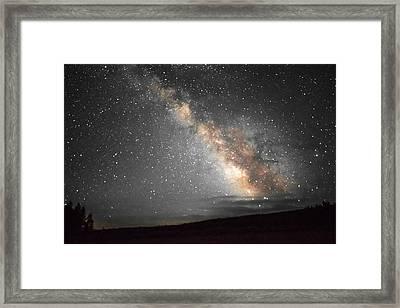 Summer Night Light Framed Print