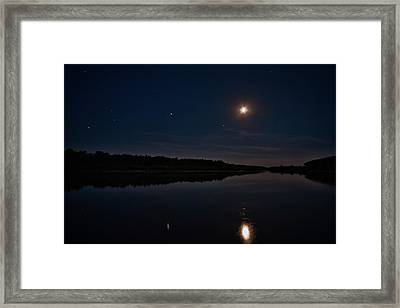 Framed Print featuring the photograph Summer Night Over Desna River. Lebedivka, 2018. by Andriy Maykovskyi