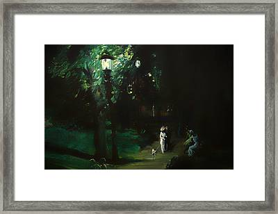 Summer Night - Riverside Drive Framed Print