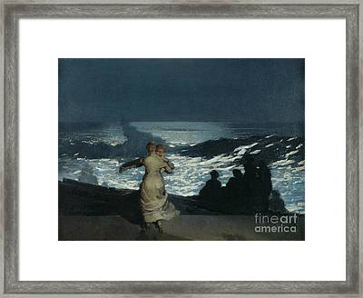 Summer Night Framed Print by Winslow Homer