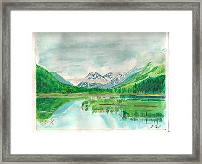 Summer Of Alaska Framed Print by Jashobeam Forest
