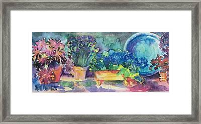 Summer On The Porch Framed Print
