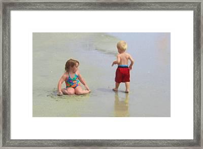 Summer Pals Framed Print by Paul Barlo