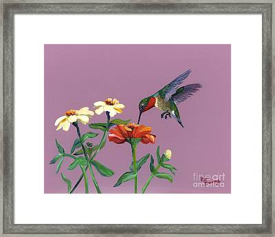 Framed Print featuring the painting Summer by Pat Burns