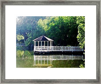 Summer Pavillion Framed Print by Myrna Salaun