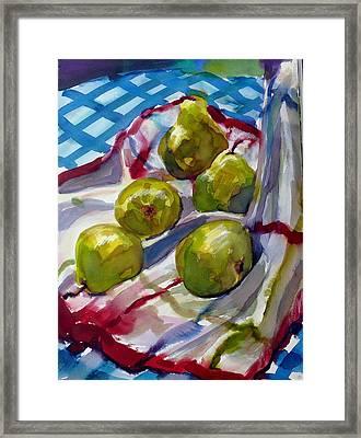 Summer Pears Framed Print by Doranne Alden