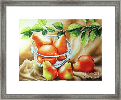 Summer Pears Framed Print