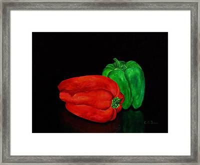 Summer Peppers Framed Print