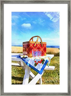 Summer Picnic Acrylic Framed Print by Edward Fielding