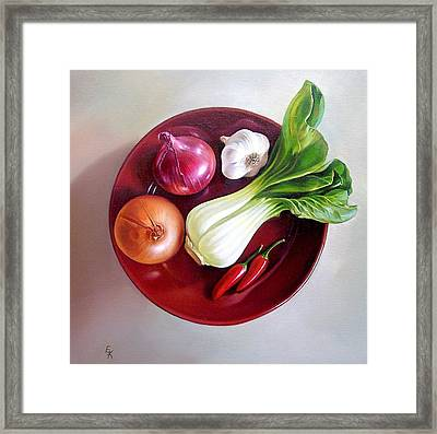 Summer Plate 2 Framed Print by Elena Kolotusha