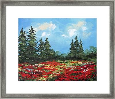 Summer Poppies IIi Framed Print by Torrie Smiley