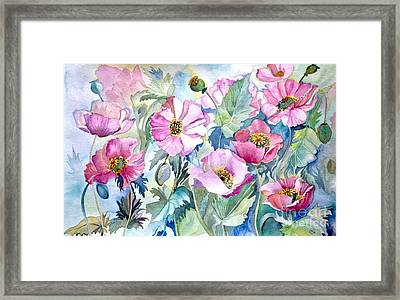 Summer Poppies Framed Print by Iya Carson
