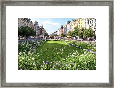 Framed Print featuring the photograph Summer Prague by Jenny Rainbow