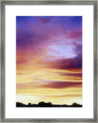 Summer Rainbow Sunset Framed Print