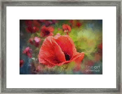 Summer Red Framed Print by Jutta Maria Pusl