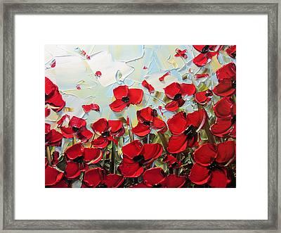 Summer Red Poppies Framed Print by Christine Krainock