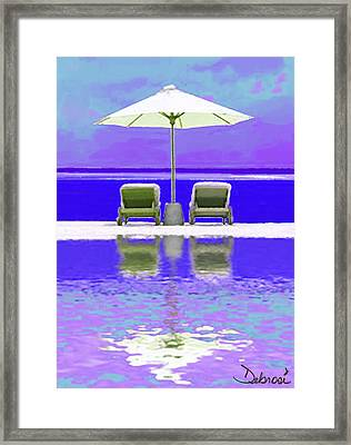 Summer Reflections Framed Print by Deborah Rosier