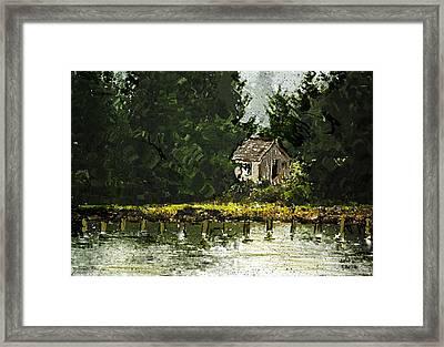 Framed Print featuring the digital art Summer Retreat by Dale Stillman