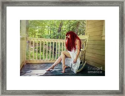 Summer Reveries Framed Print by Spokenin RED
