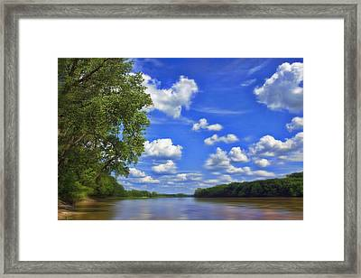 Summer River Glory Framed Print