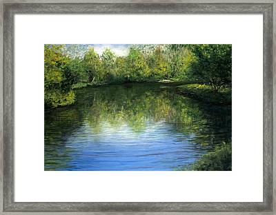 Summer River Framed Print