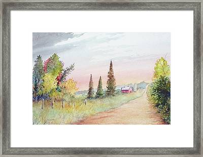 Summer Road Framed Print
