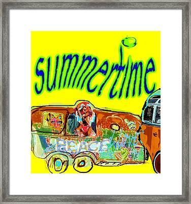 Summer Roadtrips Fun  Framed Print
